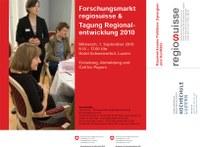 """COMUNIS beim """"Forschungsmarkt regiosuisse & Tagung Regionalentwicklung 2010"""""""
